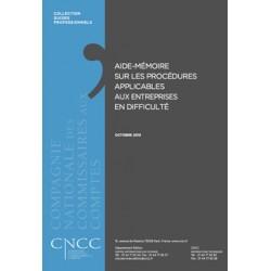 Aide-mémoire sur les procédures applicables aux entreprises en difficulté