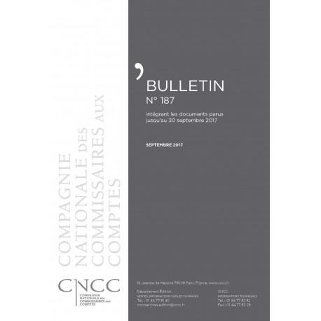 Bulletin CNCC - SEPTEMBRE 2017 - N° 187