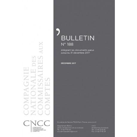 Bulletin CNCC - DECEMBRE 2017 - N° 188