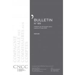 Bulletin CNCC - MARS 2018 - N° 189
