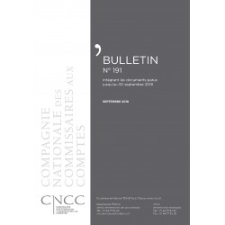 Bulletin CNCC - SEPTEMBRE 2018 - N° 191