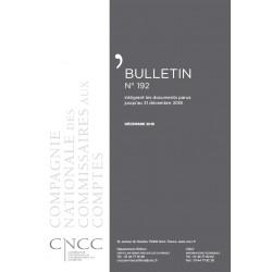 Bulletin CNCC - DECEMBRE 2018 - N° 192
